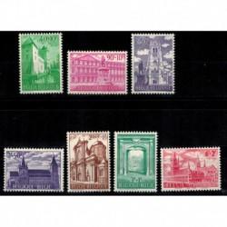 Belgique COB N° 1205 / 1211 Neuf **