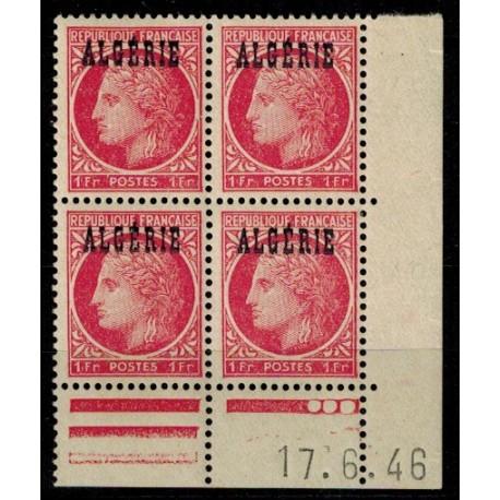 Algérie CD du N° 228 N** par x 4
