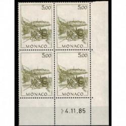 CD  Monaco N° 1518 du 4.11.85 Neuf **