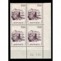 CD  Monaco N° 1762 du 24.1.91 Neuf **