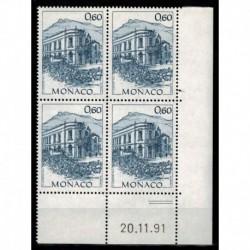 CD  Monaco N° 1834 du 20.11.91 Neuf **