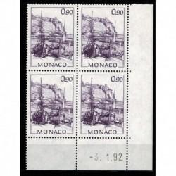 CD  Monaco N° 1835 du 3.1.92 Neuf **