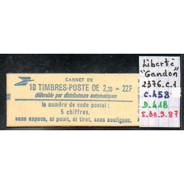 Carnet moderne 2376 C1