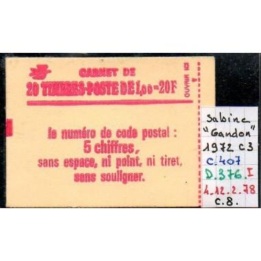 Carnet moderne 1972 C3