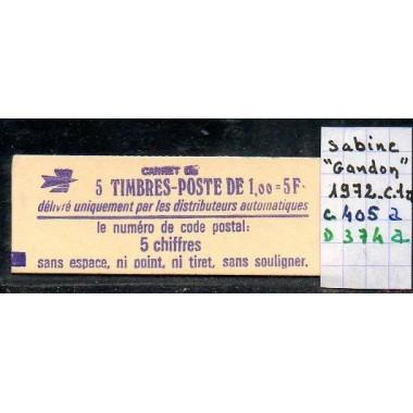 Carnet moderne 1972 C1a