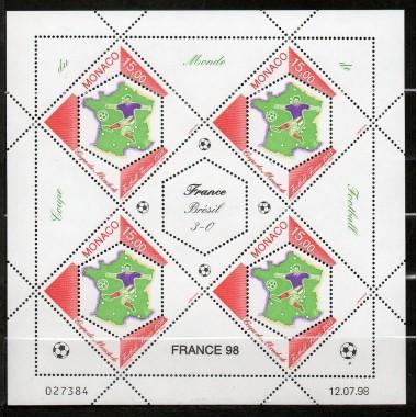 Monaco feuille du N° 2163