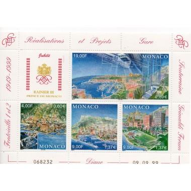 Monaco feuille du N° 2221-2224