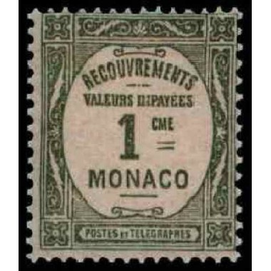 Monaco TA Neuf ** N° 0013