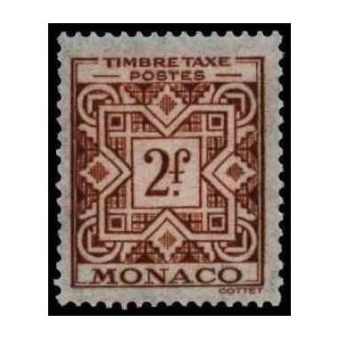 Monaco TA Neuf ** N° 0033