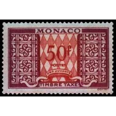 Monaco TA Neuf ** N° 0038A