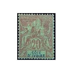 Cote d'Ivoire N° 007 Obli
