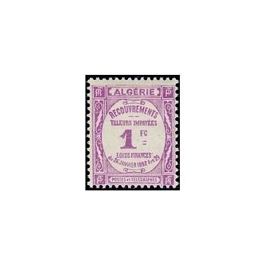 ALGERIE Taxe N° 19 N *