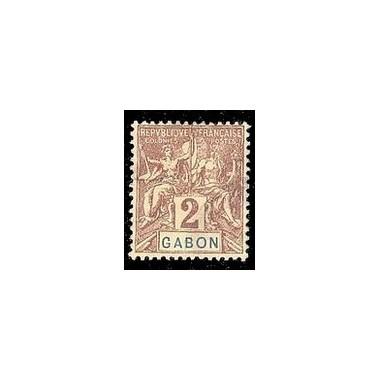 Gabon N° 017 Obli