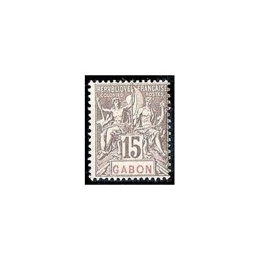 Gabon N° 021 Obli
