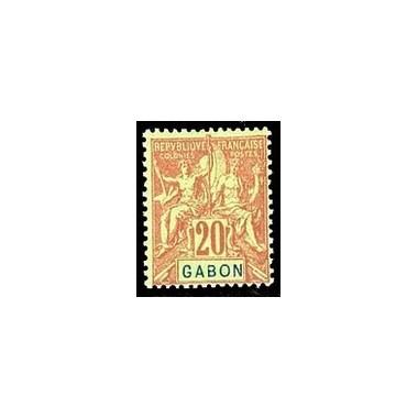 Gabon N° 022 Obli