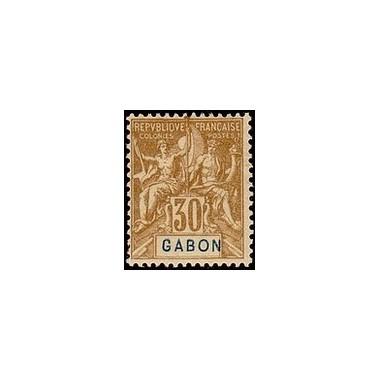 Gabon N° 024 Obli