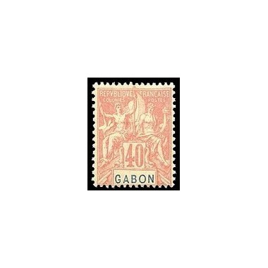 Gabon N° 026 Obli