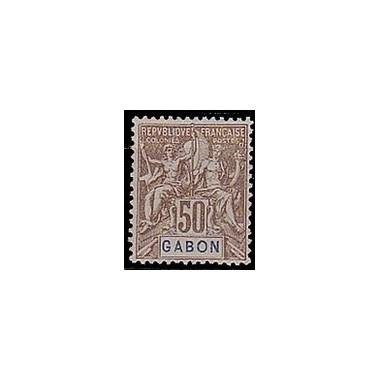 Gabon N° 028 Obli
