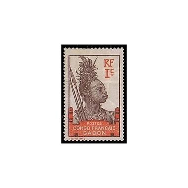 Gabon N° 033 Obli