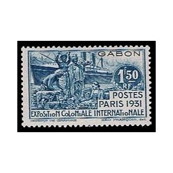 Gabon N° 124 Obli