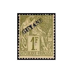 Guyane N° 028 Obli