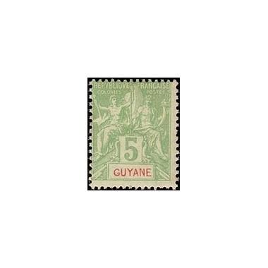 Guyane N° 043 Obli