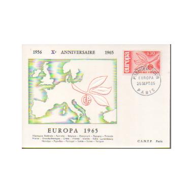 Carte P J du N° 1455