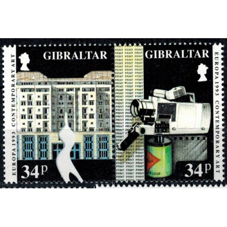 Gibraltar N° 0665/666 N**