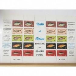 Feuille du Wallis et Futuna N° 259/63