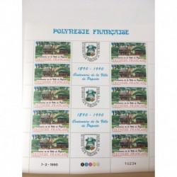 Feuille du Polynésie N° 358A