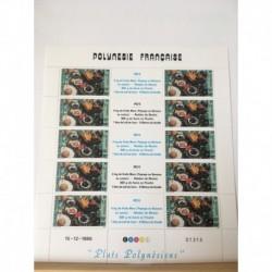 Feuille du Polynésie N° 278A