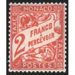 Monaco TA Neuf ** N° 0024