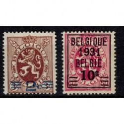 Belgique  N° 0315 / 316 Neuf **