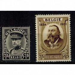 Belgique  N° 0384 / 385 Neuf **