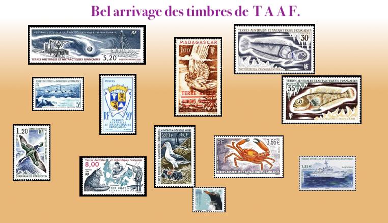 Les timbres de T A A F