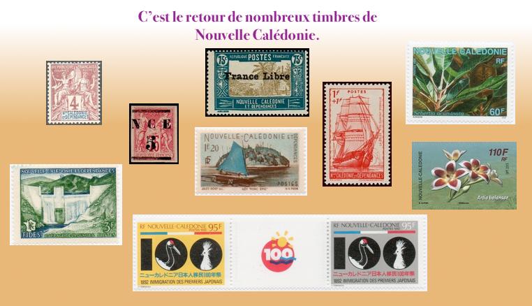 Les timbres de Nouvelle Calédonie