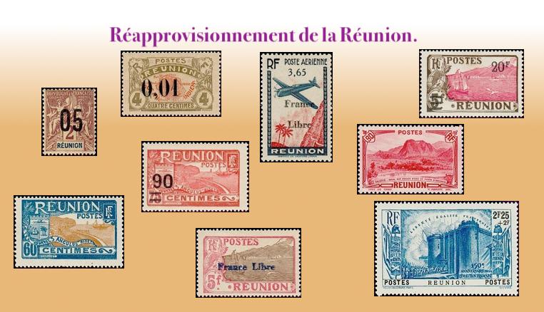 Les timbres de la Réunion
