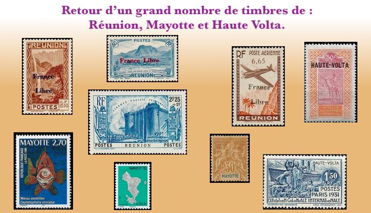 Les feuilles de timbres complète