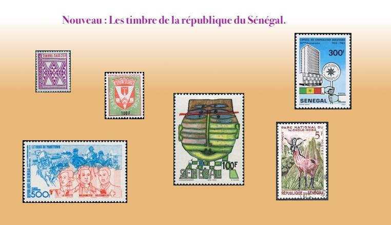 les timbres de la république du Sénégal