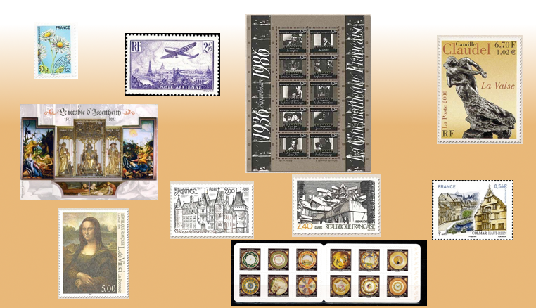 Les timbres de France