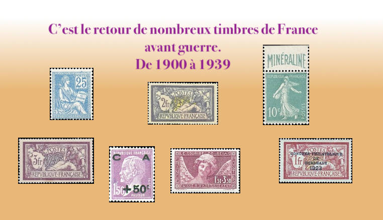 Les timbres de France avant guerre