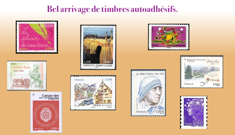 Les timbres autoadhesifs