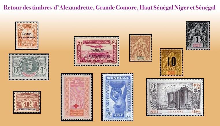 Les timbres des colonies