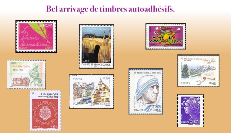 Les timbres autoadhésifs