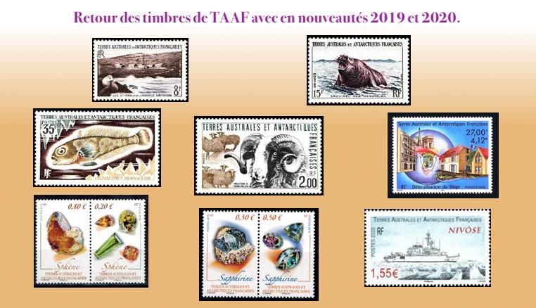 Les timbres des T.A.A.F