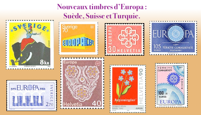 les timbres d'Europa