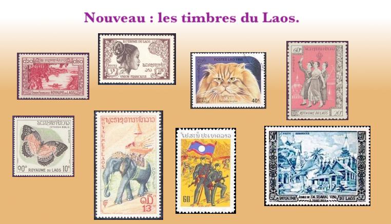 Les timbres du laos