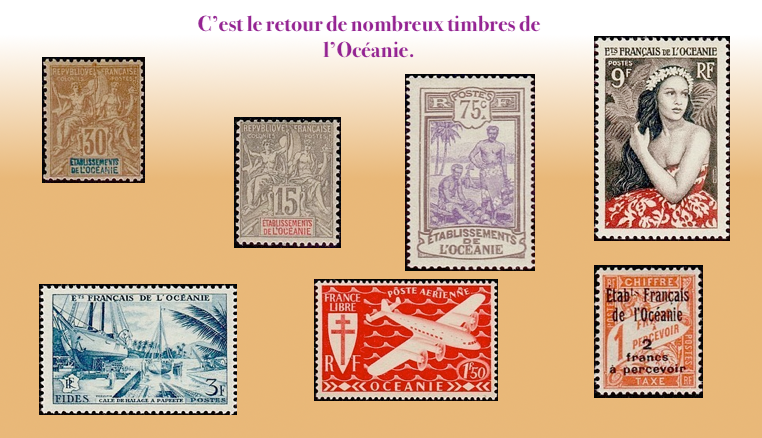 Les timbres de l'Océanie