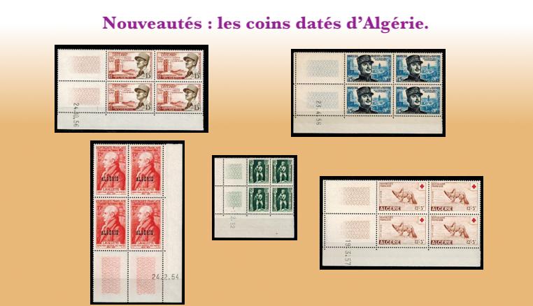 Plus de choix de timbres des coins datés