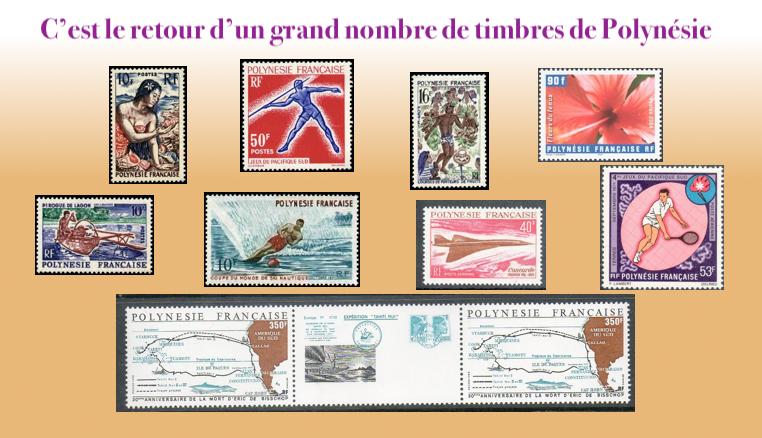 Les timbres de Polynesie